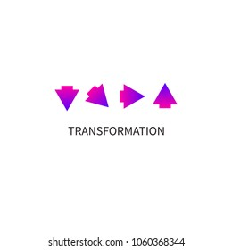 Development icon. Arrow turn up, tranformation, growth, coaching, business logo. Vector illustration