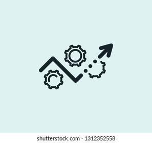Development plan icon line isolated on clean background. Development plan icon concept drawing icon line in modern style. Vector illustration for your web mobile logo app UI design.