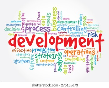 DEVELOPMENT word cloud, business concept