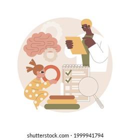 Developmental Screening abstract concept vector illustration. Child development assessment, developmental monitoring, screening practice, kids behavioral evaluation, primary abstract metaphor.