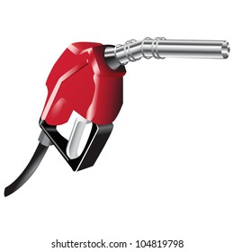 A device for filling the car with petrol. Vector illustration.