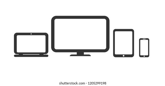 Vector de iconos de dispositivo