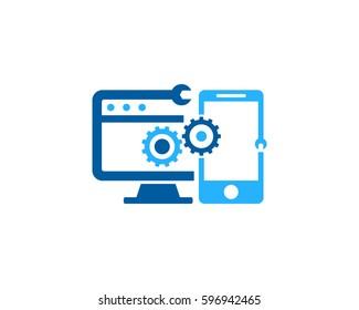 Device Repair Logo Design Element