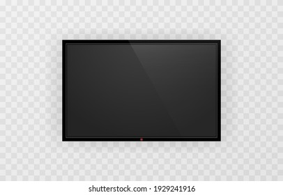 Device screen mockup. Blank screen tv mockup. Mock up for text or design. PNG.