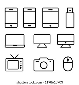 Device vector icon in modern flat design isolated on white background
