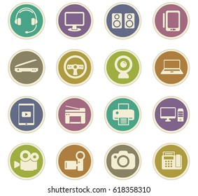 device vector icons for user interface design
