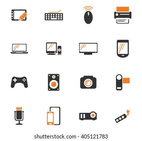 Devices icon set for web sites and user interface