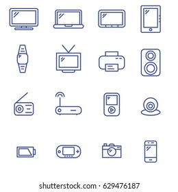 Devices line icons. Trendy icons for our everyday devices.