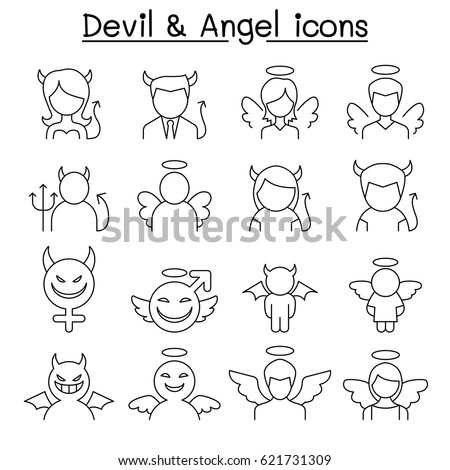 Devil Angel icon set