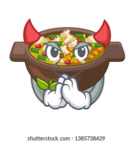 Devil fried minestrone in the cup character
