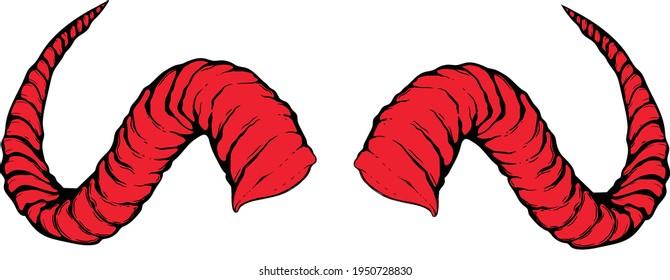 devil horns clip art red