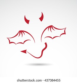 Devil icon isolated on white background. Vector art.