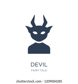 Devil icon. Trendy flat vector Devil icon on white background from Fairy Tale collection, vector illustration can be use for web and mobile, eps10