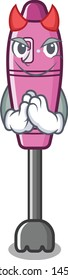 Devil immersion blender isolated in the cartoon
