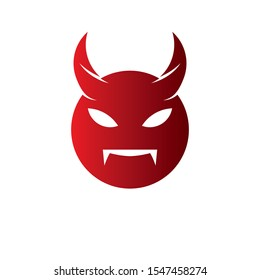 Devil logo icon vector design template