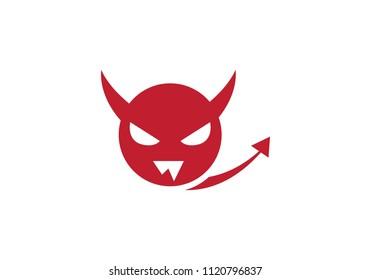 Devil logo vector icon template