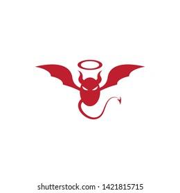 Devil logo vector template - Vector