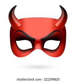 Devil mask. Vector illustration.