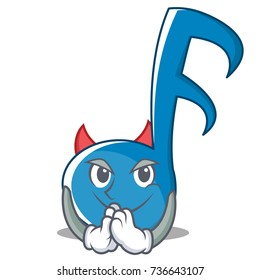 Devil Music Note Character Cartoon