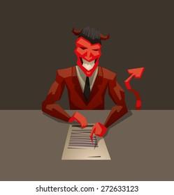 Devils contract, vector