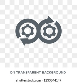 DEVOPS icon. Trendy flat vector DEVOPS icon on transparent background from Technology collection.