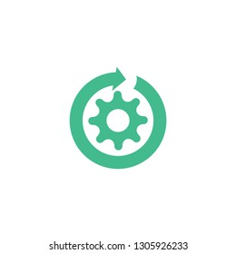 DEVOPS icon. Trendy flat vector DEVOPS icon on white background from Technology collection, vector illustration can be use for web and mobile, eps10