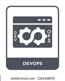 devops icon vector on white background, devops trendy filled icons from Technology collection, devops simple element illustration