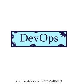 DevOps logo blue, pinion.