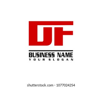DF company linked letter logo