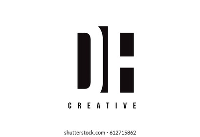 DF D F White Letter Logo Design with Black Square Vector Illustration Template.