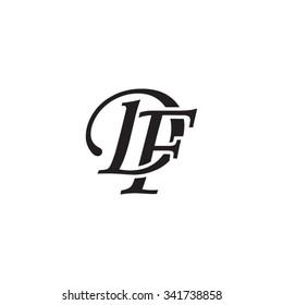 DF initial monogram logo