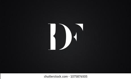 DF Letter Logo Design Template Vector