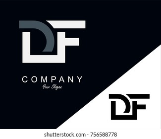 DF Letter Logo Design Template