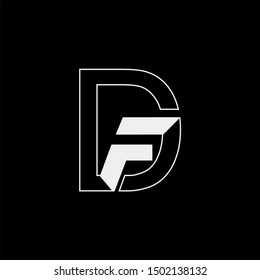 DF Letter monogram with abstrac concept style design