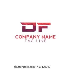 df polygonal logo