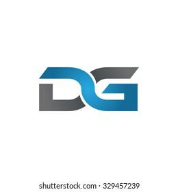 DG company linked letter logo blue