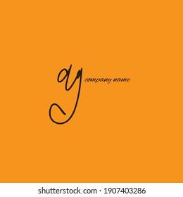 DG D G initial handwriting or handwritten logo for event