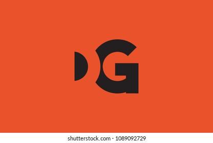 DG GD Letter Initial Logo Design Template