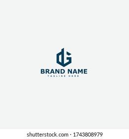 DG, GD Letter Logo Design Template Vector