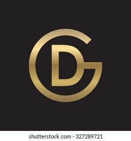 DG or GD letters, golden circle G shape