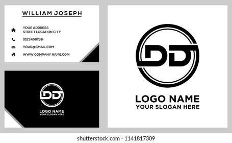 DG initial circle logo template vector