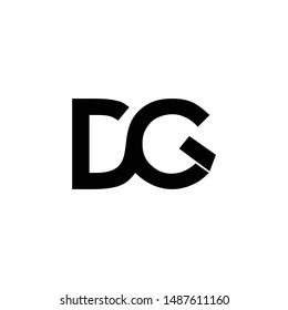 dg initial letter logo vector