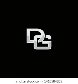DG initial logo vector illustration