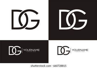 dg Letter Combo logo for your business