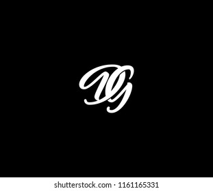 DG letter decorative linked monogram logo