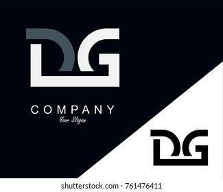 DG Letter Logo Design Template