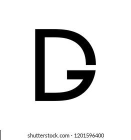 dg letter vector logo