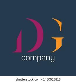 DG logo design. monogram logo. Letters D and G.