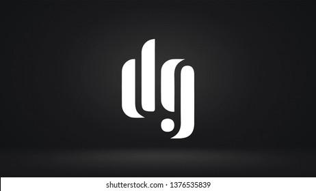 DG logo design template vector letter