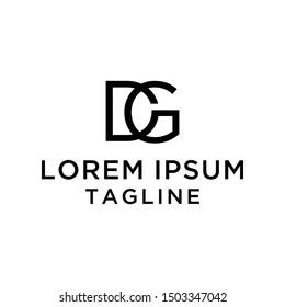 DG Logo Design Template Vector
